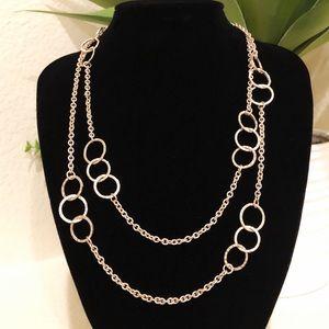BANANA REPUBLIC textured gold layering necklace